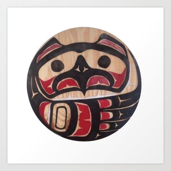 American Native Art Cut In Wood No. 5 Art Print