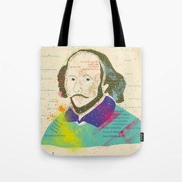 Portrait of William Shakespeare-Hand drawn Tote Bag