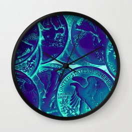 Vintage Coins Pop Art Wall Clock