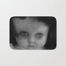 Creepy doll face Bath Mat