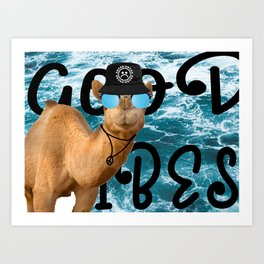 The good vibes camel Art Print