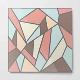 Geometric Colour Pattern V2 Metal Print