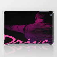 ryan gosling iPad Cases featuring Ryan Gosling in Drive by 2b2dornot2b