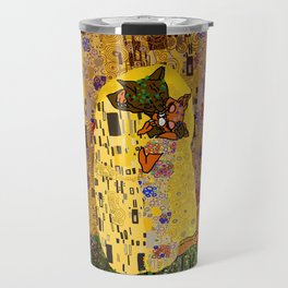 Kiss Klimt Cats Travel Mug