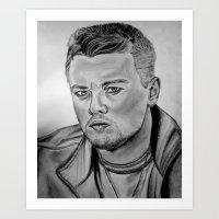 leonardo dicaprio Art Prints featuring Leonardo DiCaprio by CBDB