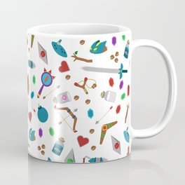 Zelda A Collection of Items Vector Pattern Coffee Mug