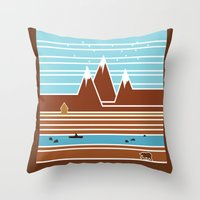 canada Throw Pillows featuring Canada. by Grant Pearce