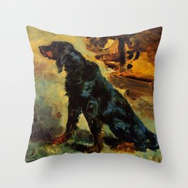 "Henri de Toulouse-Lautrec ""Dun, a Gordon Setter Belonging to Comte Alphonse de Toulouse Lautrec"" Throw Pillow"