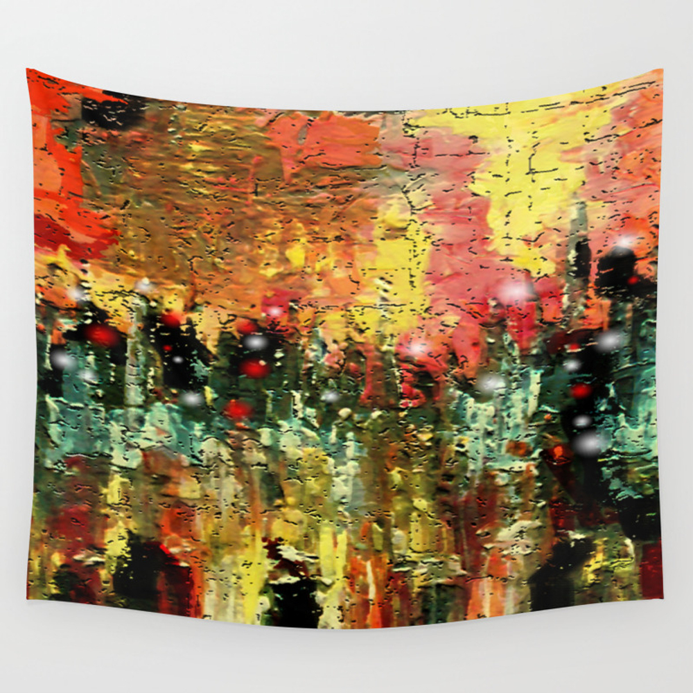 City That Never Sleeps Wall Tapestry by Sladja TPS2717032