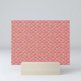 red semicircle Mini Art Print