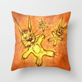 Record Cover for some Jazzed Rabbits, Orangish. Throw Pillow