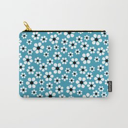 Dizzy Daisies - teal - more colors Carry-All Pouch