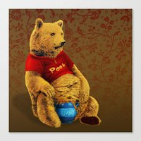 pooh Canvas Prints featuring Pooh by J ō v