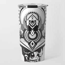 Samurai Skull Warrior Mandala Travel Mug