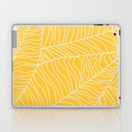 TROPICAL LEAVES - yellow palette Laptop & iPad Skin