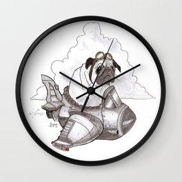 Pugplane Wall Clock