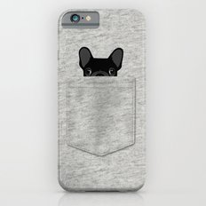 Pocket French Bulldog - Black iPhone 6 Slim Case