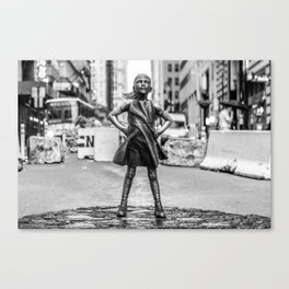 Fearless Girl NYC Canvas Print