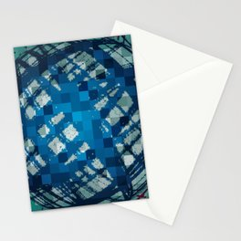 Floating Blue Sphere or Ovoid? Stationery Cards