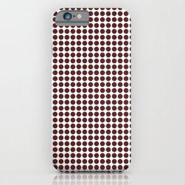 Dot-O-Matic Brown #illustration iPhone Case