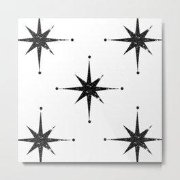 black 8 point stars Metal Print
