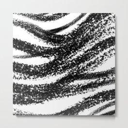 Halftone brush print Metal Print
