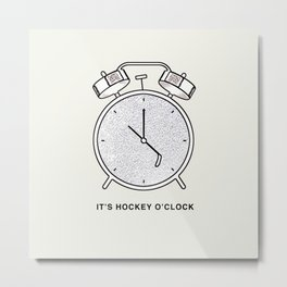 Hockey Time Metal Print