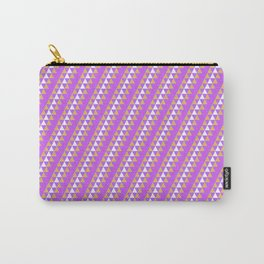 Geometrical neon pink orange triangles pattern Carry-All Pouch