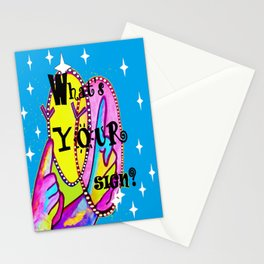 What's Your Sign? ASL FUN Stationery Cards