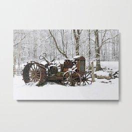 Steel and Snow Metal Print