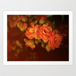 romance flowers Art Print