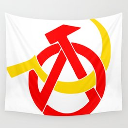 Anarcho-Communist Symbol Soviet USSRColors Wall Tapestry