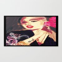 iggy azalea Canvas Prints featuring Iggy Azalea by The Expression Studio