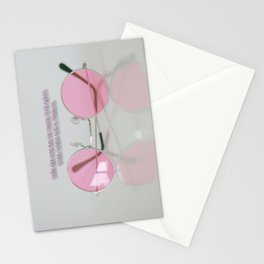 When setting up a rose-colored glasses... Stationery Cards