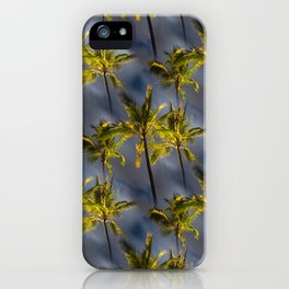 Palm Trees Tropical Night Pattern iPhone Case