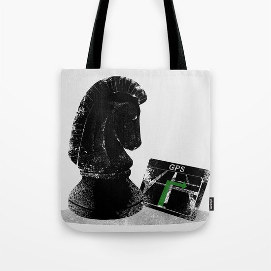 "Chess Horse - Knight Moves "" L "" Tote Bag"