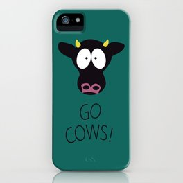 Go Cows Poster iPhone Case