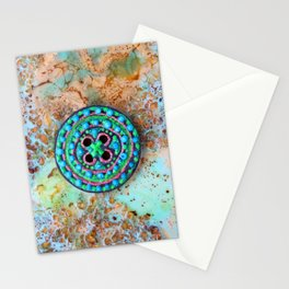 Button for happiness Stationery Cards