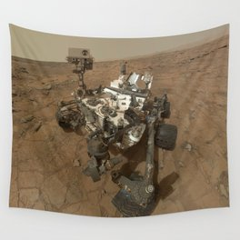 NASA Curiosity Rover's Self Portrait at 'John Klein' Drilling Site in HD Wall Tapestry