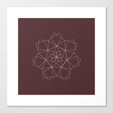 #337 Dragon star – Geometry Daily Canvas Print