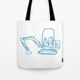 Mechanical Digger Mono Line Tote Bag