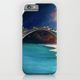 Mostar Old Town Panorama, Stari Most Bridge, Bosnia and Herzegovina by Tivadar Csontváry Kosztka iPhone Case