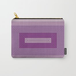Rectangles shades of purple Carry-All Pouch