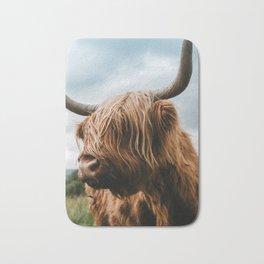 Scottish Highland Cattle - Animal Photography Bath Mat