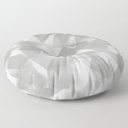 White polygonal landscape Floor Pillow