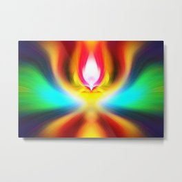 When the sands of time find you dawdling...falling into colour is easy Metal Print