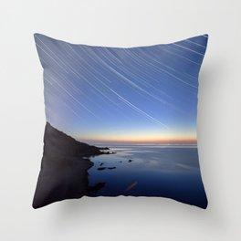 Watercolor Nightscape, Hovs Hallar 02, Sweden Throw Pillow