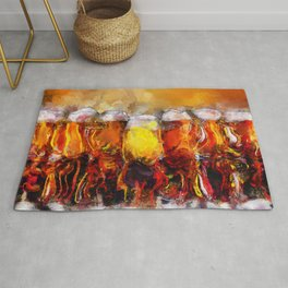 Beer Paintings & Gifts for the Beer Lover Rug