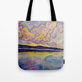 Sunrise on the Comox Glacier Tote Bag