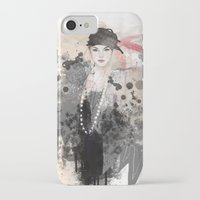 fashion illustration iPhone & iPod Cases featuring FASHION ILLUSTRATION 12 by Justyna Kucharska